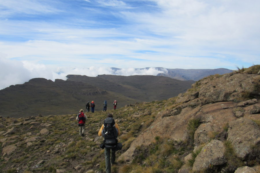 SANI PASS TO THABANA NTLENYANA, HIGHEST PEAK IN LESOTHO. SOUTHERN AFRICA