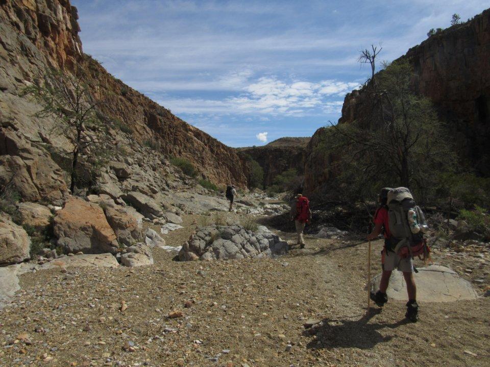 Naukluft hiking trail Namibia