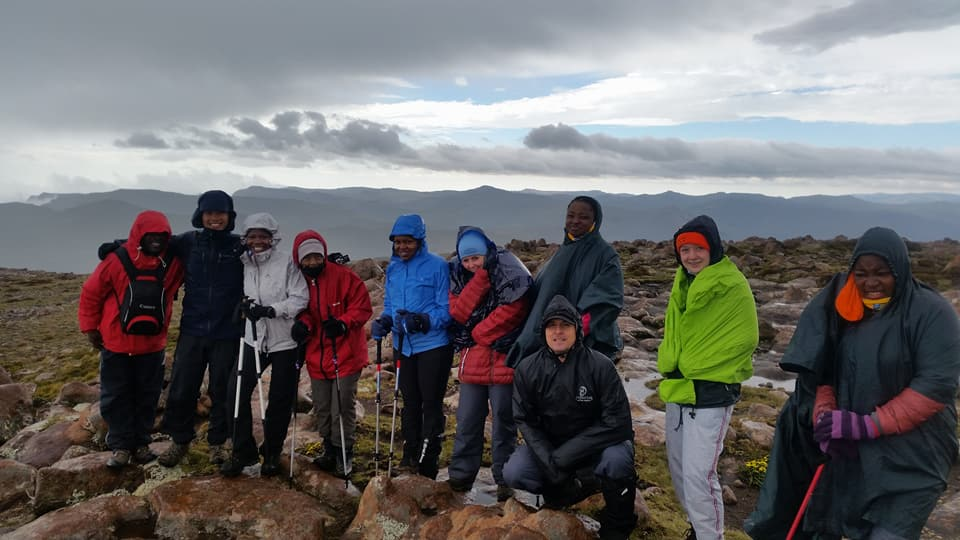 On top of Mafadi Peak