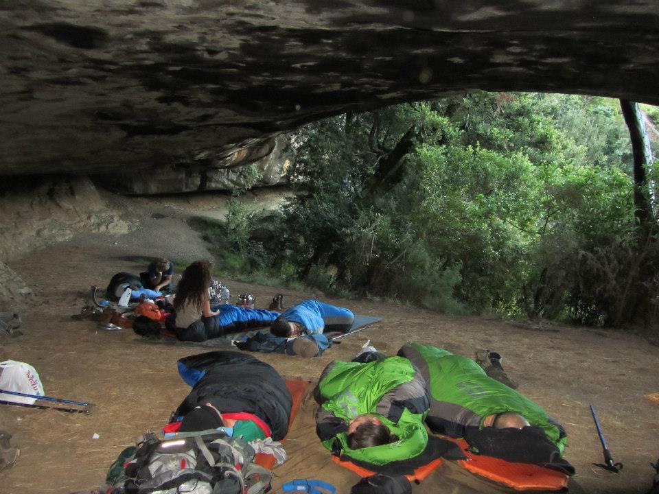 Sleeping at Zulu Cave in the Drakensberg