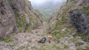 Gray's Pass at Champagne Castle, Drakensberg Trekking