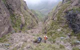 Gray's Pass at Champagne Castle, Drakensberg Trekking