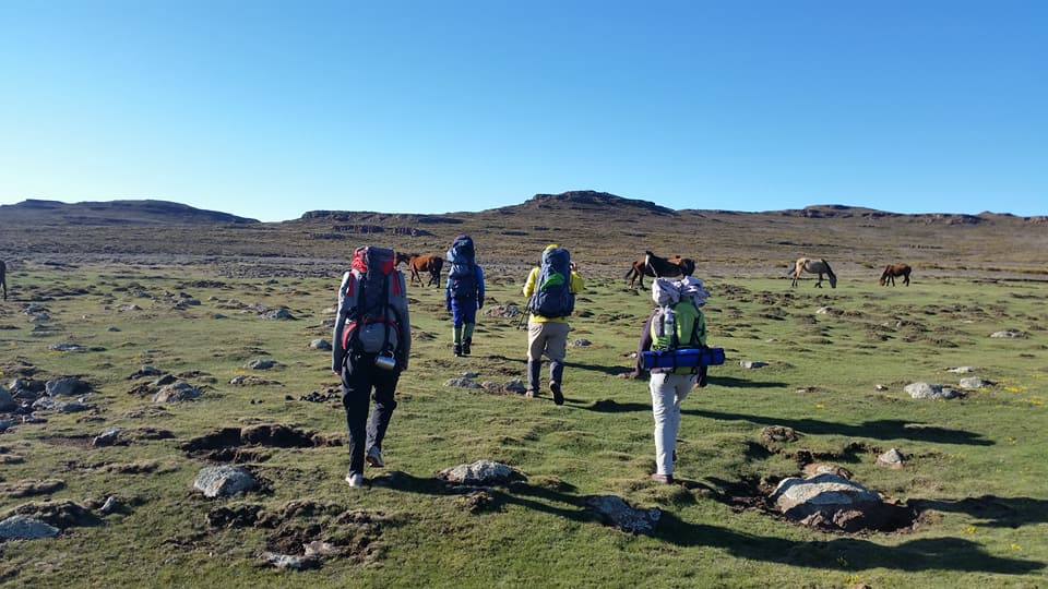 Heading Towards Thabana Ntlenyana