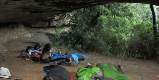 Sleeping at Zulu Cave in the Drakensberg