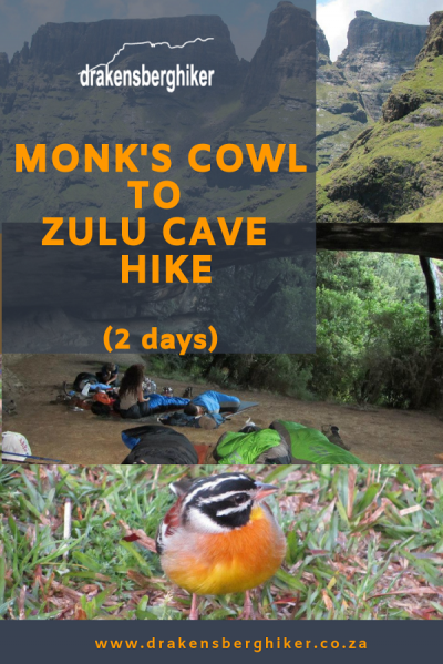 Monk's Cowl to Zulu Cave 2 Day Hike