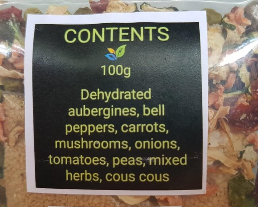 Delicious Hot Veggies for Hikers